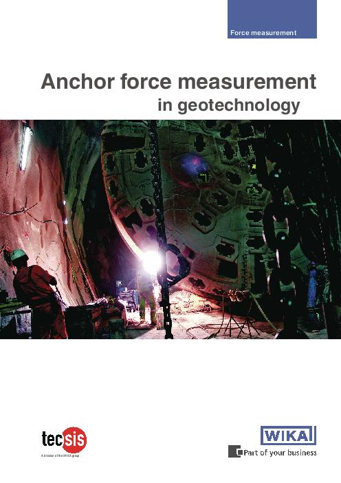 Anchor force measurement in geotechnology