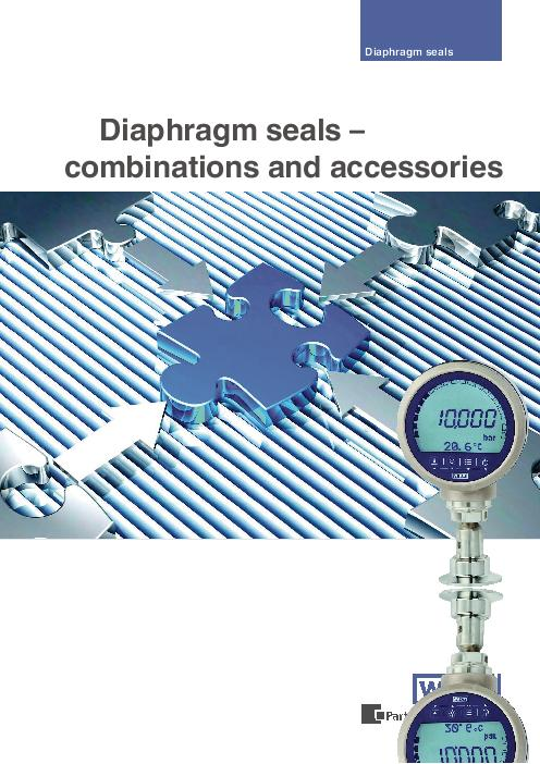 Diaphragm seals – combinations and accessories