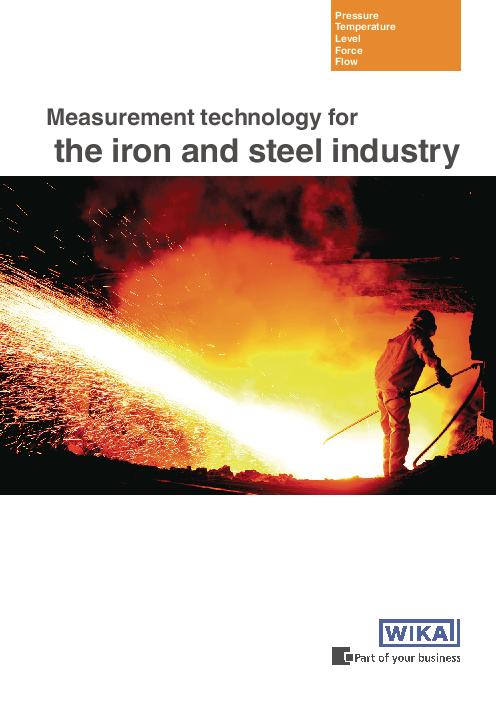 Measurement technology for the iron and steel industry