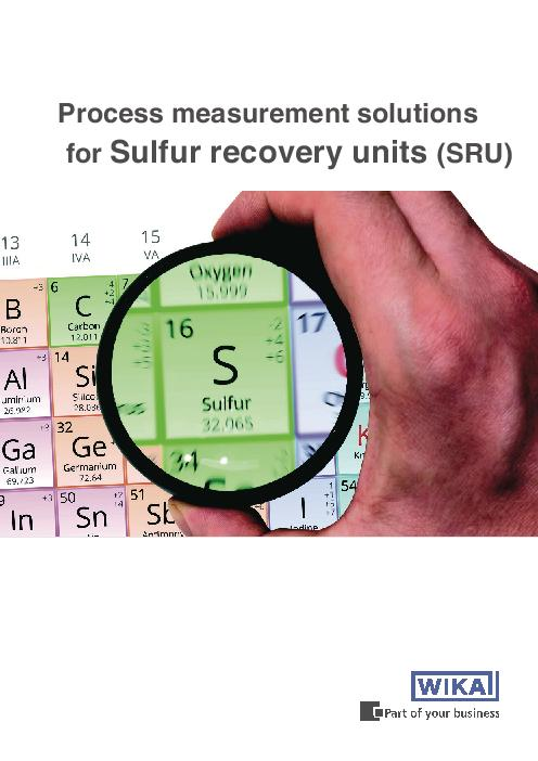 Process measurement solutions in Sulfur recovery units (SRU)
