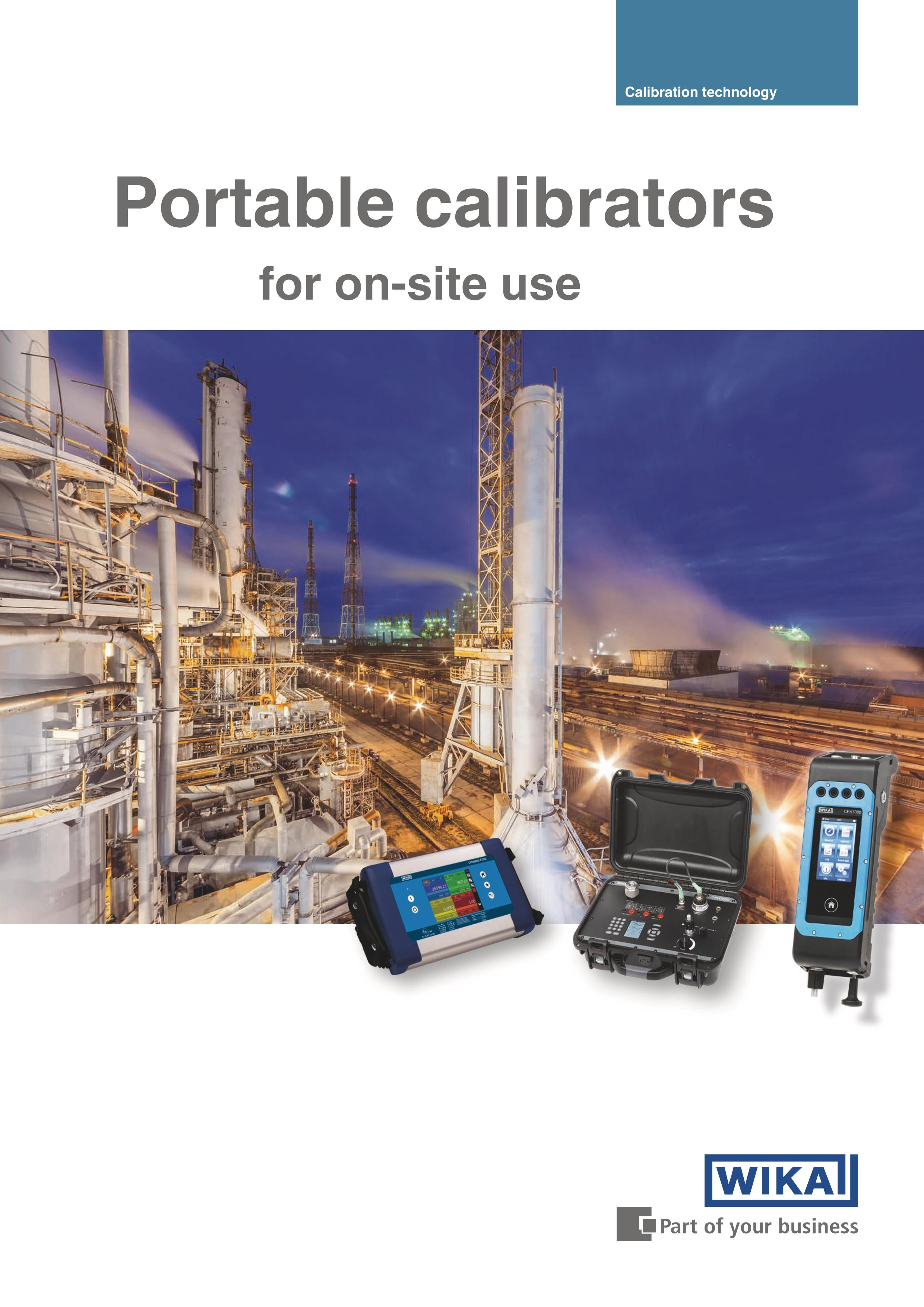 Portable calibrators for on-site use