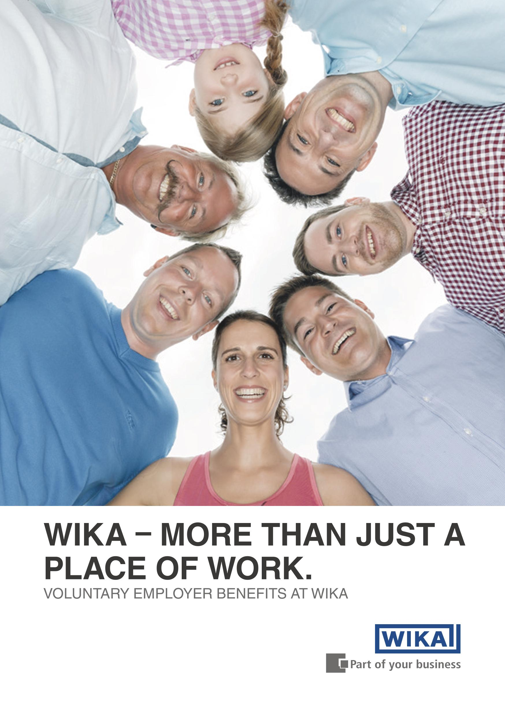 Voluntary employer benefits at WIKA